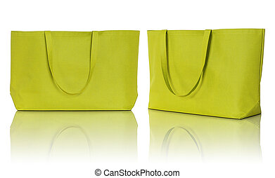 shoppen , weefsel, gele, zak, achtergrond, witte