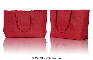 shoppen , weefsel, zak, achtergrond, wit rood