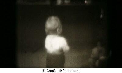 shown, oud, projector, gezin, film, kerstmis, film