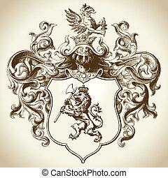sierlijk, heraldisch, embleem