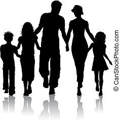 silhouette, gezin
