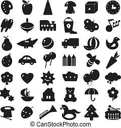 silhouettes, black , speelgoed