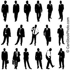 silhouettes, zakenmens