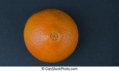 sinaasappel, achtergrond., resolutie, black , 4k