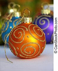 sinaasappel, bauble van kerstmis