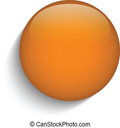 sinaasappel, glas, knoop, cirkel, achtergrond