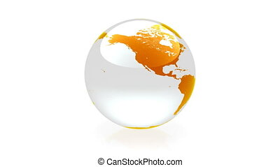 sinaasappel, globe, animatie