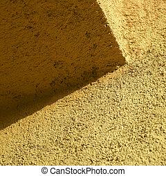 sinaasappel, muur, stucco