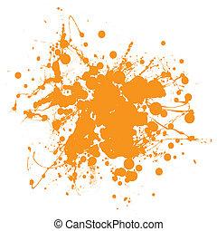 sinaasappel, splat, inkt