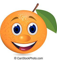 sinaasappel, spotprent