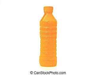 sinaasappelsap, fles, plastic