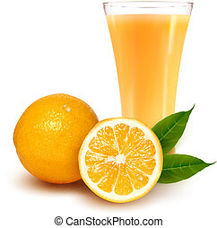 sinaasappelsap, fris, glas