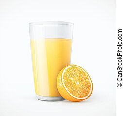 sinaasappelsap, fruit, glas