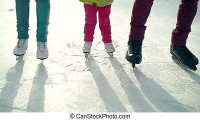 skating, eerst, tijd