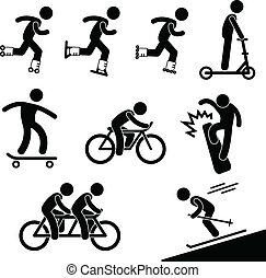 skating, paardrijden, activiteit