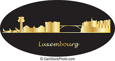 skyline, luchthaven, luxembourg