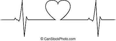 slaan, hart, liefde