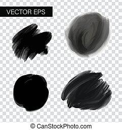 slagen, figured, vector, borstel, inkt