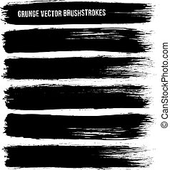 slagen, vector, black , borstel, inkt