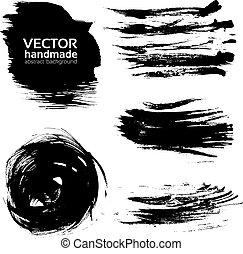 slagen, verf , abstract, vector, borstel