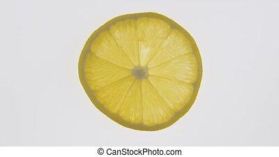 slice., texture., citroen, citrus, transparant, omwenteling, mager