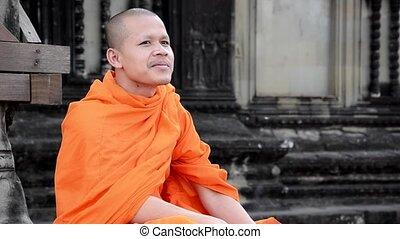 smoking, khmer, monnik, sigaret