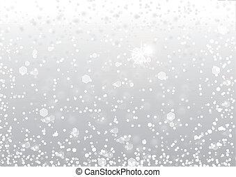 sneeuw, achtergrond, abstract