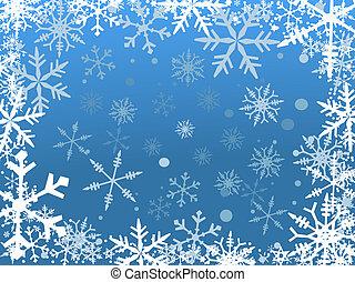 sneeuw, grens
