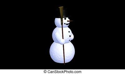 sneeuwpop, bezem, vasthouden