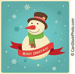 sneeuwpop, hipster, kerstmis, achtergrond