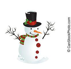 sneeuwpop, illustratie, schattig