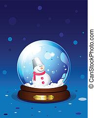 sneeuwpop, snowglobe
