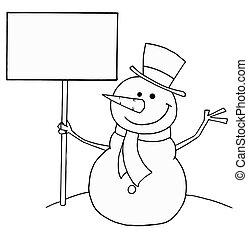 sneeuwpop, vasthouden, meldingsbord