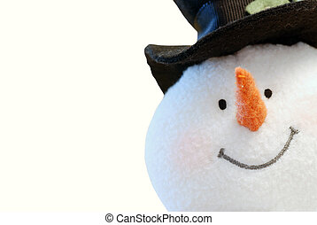 sneeuwpop, vrijstaand, gezicht