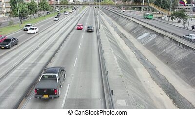 snelweg, definitie, timelapse, hoog