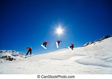 snowboard, opeenvolging