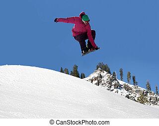 snowboard, springt
