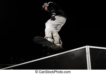 snowboarder, sprong, freestyle