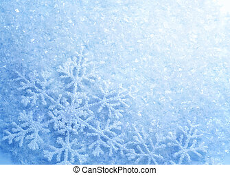 snowflakes., achtergrond., winter, sneeuw, kerstmis