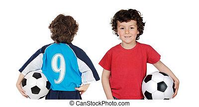 soccerball, kinderen