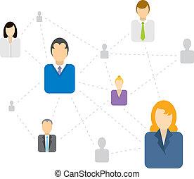 sociaal, het verbinden, netwerk, zakelijk, /