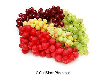 sorts, witte , gevarieerd, vrijstaand, druiven
