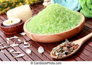 spa, groene, zout