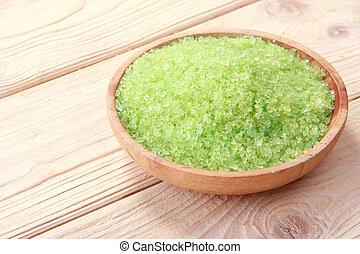 spa, groene, zout, zee