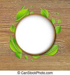 spandoek, abstract, bladeren, achtergrond, hout, groene