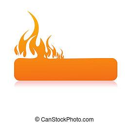 spandoek, burning, vlam
