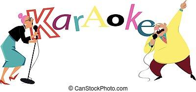 spandoek, karaoke, senior