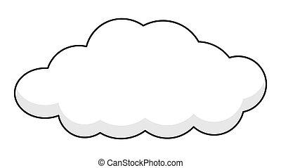 spandoek, retro, wolk