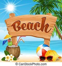 spandoek, strand