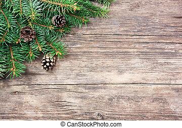 spar, houten, boompje, kerstmis, achtergrond